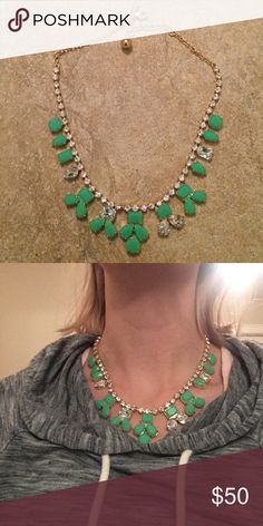 Never worn Kate Spade necklace from Bloomingdales Green lovely necklace! kate spade Jewelry Necklaces