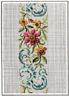 Acul de Platina-Modele Din Toata Lumea Cross Stitch Needles, Cute Cross Stitch, Cross Stitch Rose, Cross Stitch Borders, Cross Stitch Flowers, Cross Stitch Charts, Cross Stitch Designs, Cross Stitching, Cross Stitch Embroidery