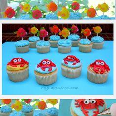 Beachy Cupcakes~ A Free Blog Tutorial
