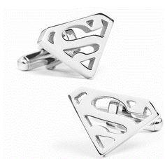 Stainless Steel Superman Cufflinks by Cufflinksman