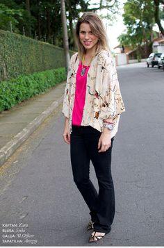 Barbara Resende do @fashiongazette usa Colar Amelie Amarelo