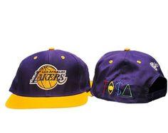 7933295a24d Los Angeles Lakers Tisa Snapback Hat Purple   Gold.