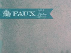 Faux Painted Wall #diy