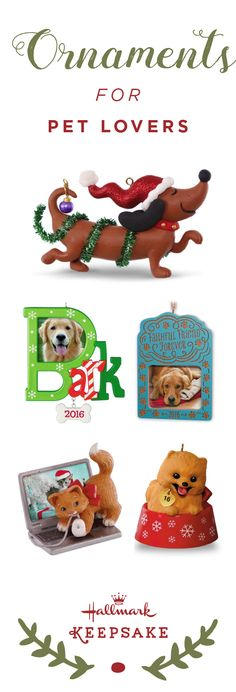 It doesn't matter if you're a cat or dog person—celebrate all the cute and furry friends in your life this Christmas holiday. Hallmark Keepsake Ornaments offers a collection of pet-inspired ornaments that you can personalize by adding a name or photo. This is the perfect gift idea for the animal lovers in your life! Shop online or at your nearest Hallmark Gold Crown store.