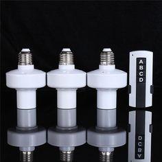 110V-240V/500W 3 Way E27 Screw Holder Wireless Remote Control Light Lamp Bulb Cap Socket Best Price #Affiliate