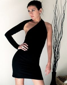 Hey, I found this really awesome Etsy listing at http://www.etsy.com/listing/74570455/unique-black-one-shoulder-dress-donation