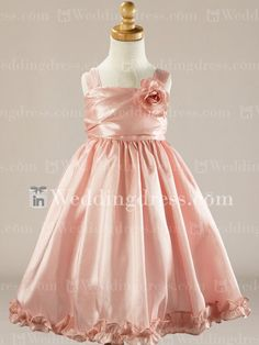 Colored Flower Girl Dresses_Peach Fizz