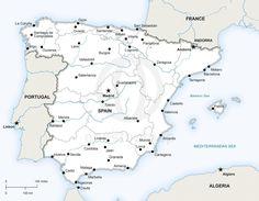 Vector map of Spain - printable and editable - Adobe Illustrator AI, EPS, PDF and JPG.