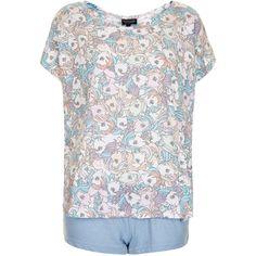 TOPSHOP My Little Pony Pyjama Set (125 BRL) ❤ liked on Polyvore featuring intimates, sleepwear, pajamas, pyjamas, pijamas, topshop, shirts, pink, topshop pyjamas and cotton pjs