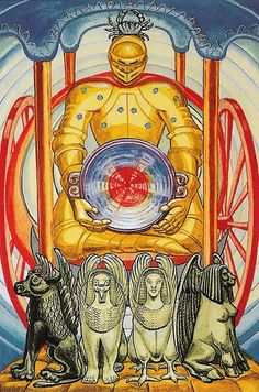 Major Arcana 07 - The Chariot Crowley's Thoth Tarot Deck -