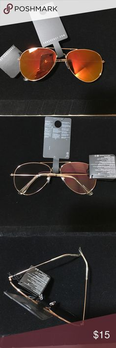 Forever 21 Rose Gold Aviators Rose gold frames and pink/ orange lenses . NWT . Forever 21 Accessories Sunglasses