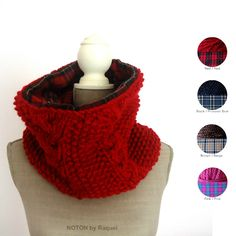 This amazing double side knit cowl will rock this Winter!  http://notonbyraquel.bigcartel.com/product/reversible-knit-scarf