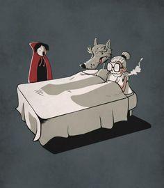 Alternate ending to Little Red Riding Hood Little Red Hood, Charles Perrault, Big Bad Wolf, Joker, Deviantart, Red Hats, Red Riding Hood, Big Eyes, Halloween