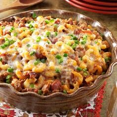 Southwestern Casserole Recipe - top this hearty casserole with sour cream or guacamole and serve with tortilla chips or cornbread for a fast and easy family dinner.