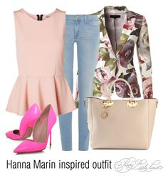 """""""Hanna Marin inspired outfit/PLL"""" by tvdsarahmichele on Polyvore featuring ESCADA, 7 For All Mankind, Vero Moda, Kurt Geiger and Sophie Hulme"""