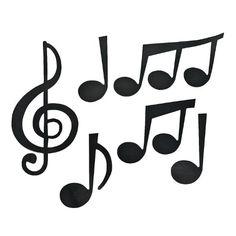 Jumbo Music Note Cutouts 1 Dozen