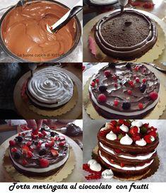 Ingredienti per la torta al cioccolato(QUI): 4 uova 150 gr di burro 25 gr di cacao 170 gr di zucchero 1 bicchierino...