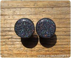 Milky Way Glitter Plugs 2g 0g 00g 7/16 1/2 by EvolveDragonfly
