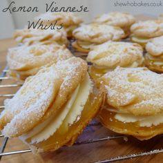 Lemon Viennese Whirls - She Who Bakes Lemon Recipes, Baking Recipes, Sweet Recipes, Cookie Recipes, Dessert Recipes, Meal Recipes, Recipies, Biscuit Cookies, Biscuit Recipe
