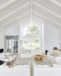 Cathedral ceiling 🏛💕 We've never shown you this angle before Home Renovation, Three Birds Renovations, Piece A Vivre, Dream Decor, Cimorelli, Home Fashion, Interior Design Living Room, Living Spaces, New Homes