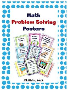 This pack includes 10 math problem solving posters that you can laminate and hang in your classroom.Posters include:- Draw a Picture- Guess, Ch. Math Resources, Math Activities, Math Classroom, Classroom Posters, Classroom Ideas, Math Story Problems, Word Problems, Math Magic, 5th Grade Math
