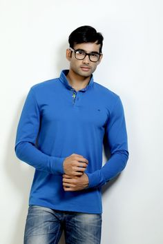 Fashion Polo with Full Sleeves and Stylish Collar to Rock your Weekend