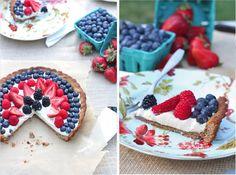 4th of July a Dessert - Paleo Berry Tart with Dairy-Free Vanilla Bean Custard - Against All Grain