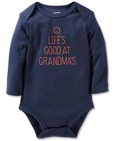 Carter's Baby Boys' Long-Sleeve Graphic Bodysuit - Kids - Macy's