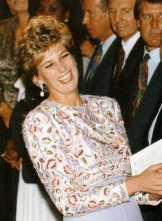 Diana's beaming smile