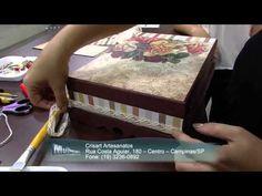 Mulher.com 21/11/2014 - Caixa de bijuterias scrap decor por Marisa Magalhães parte 2 - YouTube