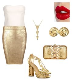 """""""#Gold"""" by lelybely-polyvore ❤ liked on Polyvore featuring Posh Girl, STELLA McCARTNEY, Charlotte Olympia, Zagliani, Chanel and Charlotte Tilbury"""