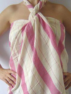 Turkish Bath Towel Peshtemal Beach Spa Yoga Towel by TheAnatolian, Turkish Bath Towels, Yoga Towel, Beach Towel, Beach Bum, Swagg, Beach Fashion, Style Fashion, Fashion Ideas, Fashion Inspiration