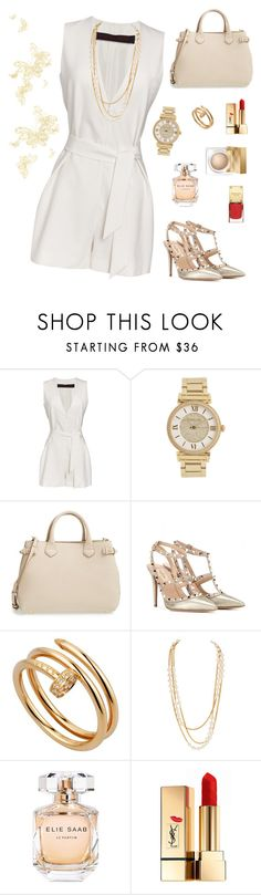 """""""Untitled #214"""" by maurogianni-za ❤ liked on Polyvore featuring Martin Grant, Michael Kors, Burberry, Valentino, Cartier, Chanel, Elie Saab and Yves Saint Laurent"""