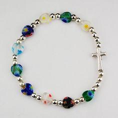 Heart Murano Stretch Bracelet