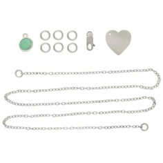 This 925 Sterling Silver Necklace Kit with Emerald Charm is perfect as a gift for a May born friend. Jewellery Making, Sterling Silver Necklaces, Birthstones, Dog Tag Necklace, Emerald, Charmed, Kit, How To Make, Jewelry