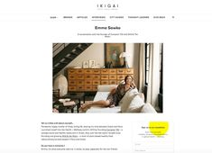 Interview with Comptoir 102 & Wild & The Moon founder Emma Sawko featured in IKIGAI
