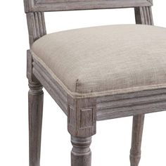 Modway Court Vintage French Upholstered Fabric Dining Side Chair in Beige Rustic Dining Chairs, French Dining Chairs, Rustic Chair, Upholstered Dining Chairs, Dining Chair Set, Classic Furniture, Side Chairs, Desk Chairs, Innovation Design