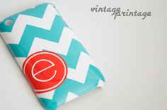 Chevron with Techron Personalized Monogramed by vintageprintage
