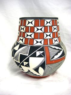 Acoma Pueblo Pottery by Franklin Peters Huwaka New Mexico NM Signed