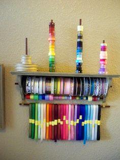 Best 25 ribbon organization ideas on pinterest ribbon storage 67 diy ribbon organizers you can make yourself plus one you can diy cheap ribbon organizer solutioingenieria Choice Image