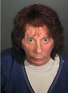 Phil Spector (2009) | Celebrity Mugshot arrested for murder of Lana Clarkson Prison Mugshots, Funny Mugshots, The Ronettes, Celebrity Mugshots, True Crime, Serial Killers, Motown, Being Ugly, Famous Faces