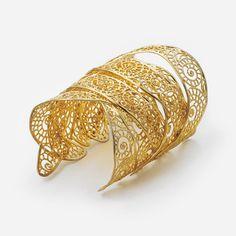 Isharya Swirl Long Filigree Cuff