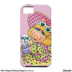 The muppets - Srta. Piggy Holding Puppy iPhone 5 Fundas. Regalos, Gifts. Producto disponible en tienda Zazzle. Product available in Zazzle store. Link to product: http://www.zazzle.com/srta_piggy_holding_puppy_iphone_5_fundas-179092126626653828?lang=es&CMPN=shareicon&social=true&rf=238167879144476949 #carcasas #cases