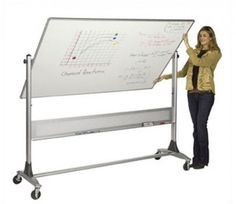 """48""""x72"""" Free Standing Porcelain Reversible Whiteboard Commercial Marker Board  #BestRite #Contemporary"""