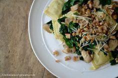 33 Shades of Green: Tasty Tusedays: Cheese Ravioli with Mushrooms & Spinach
