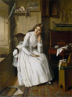 Florence Dombey in Captain Cuttle's Parlour - William Maw Egley, 1888