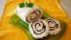 Křehká, chutná a lahodná roláda. Recipe Box, Sushi, Rolls, Cooking Recipes, Sweets, Keto, Ethnic Recipes, Food, Coconut Cakes