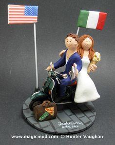 Italian American Wedding Cake Topper