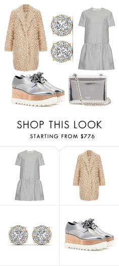 """""""gray and drown"""" by m-tunkara ❤ liked on Polyvore featuring Valentino, Elizabeth and James, STELLA McCARTNEY, Rochas, women's clothing, women, female, woman, misses and juniors"""