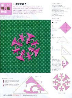 『楽しい切り紙教室』オレンジページ 連載中 No.1〜31.... : chinatsuhigashi,illustration work sumple
